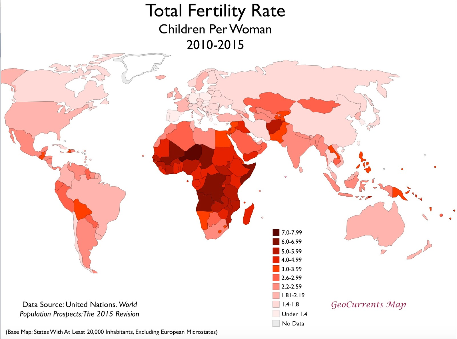 Total fertility rate (2010 - 2015)