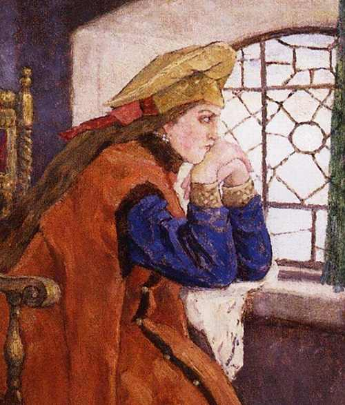 Viktor Vasnetsov - The princess at the window 1920