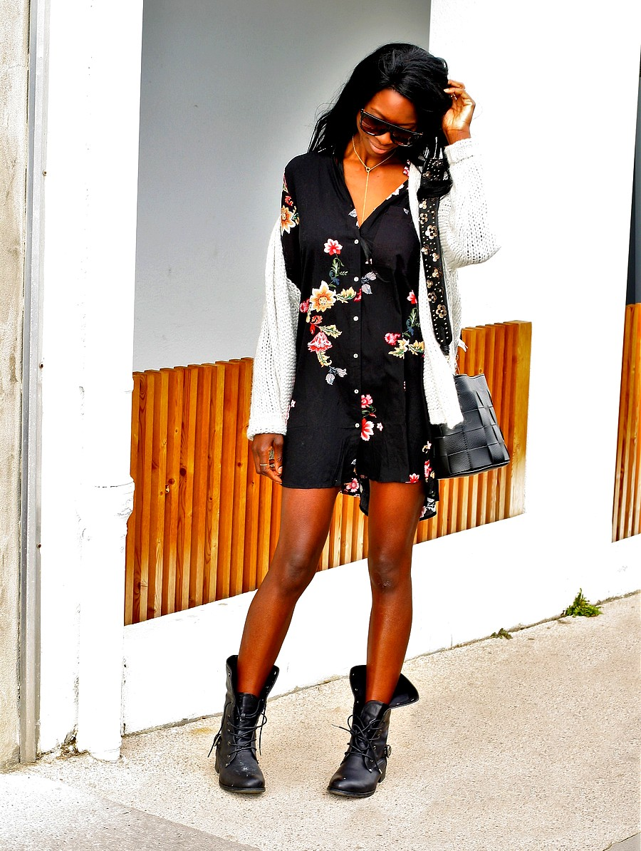 bottines-lacets-robe-chemise-imprime-floral-tendance-automne-2017