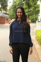 Poojita Super Cute Smile in Blue Top black Trousers at Darsakudu press meet ~ Celebrities Galleries 019.JPG