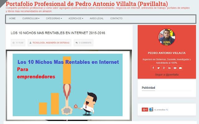 Blog Portafolio Profesional, Negocios en Internet