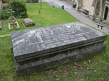 Photograph of tomb of Mary Shelley, Mary Wollstonecraft and William Godwin