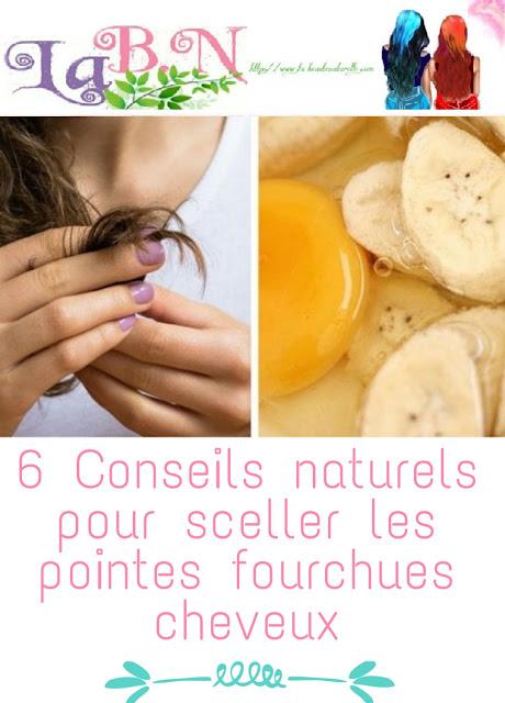 6 Conseils naturels pour sceller les pointes fourchues cheveux