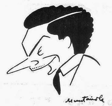 Caricatura de Francesc Vivas i Font por Muntañola