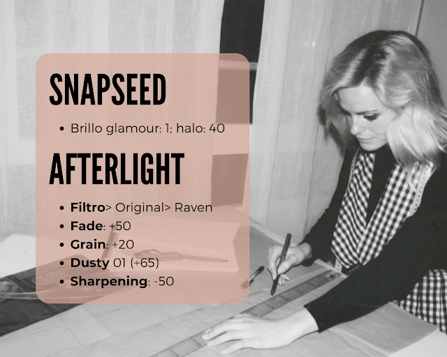 Descripción de la edición que se ha seguido con Snapseed y Afterlight
