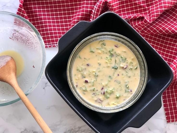 Flan de queso fresco y brotes verdes