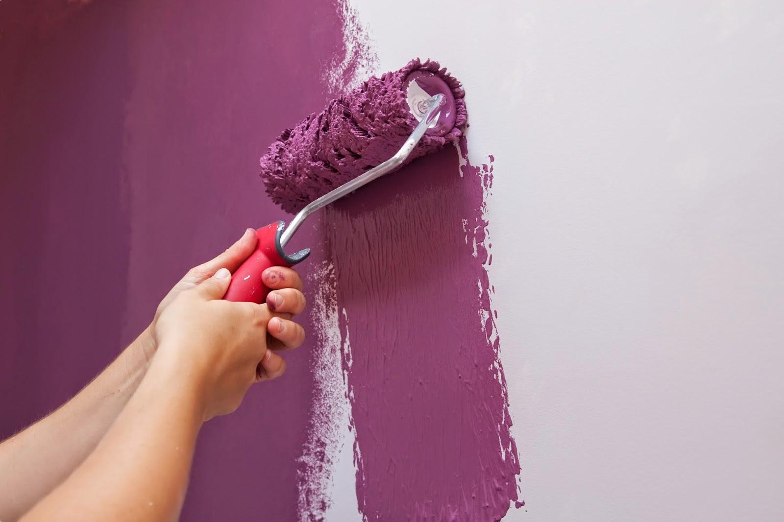 Pareti Glitterate Lilla : Pittura lilla con brillantini pittura camera da letto simple