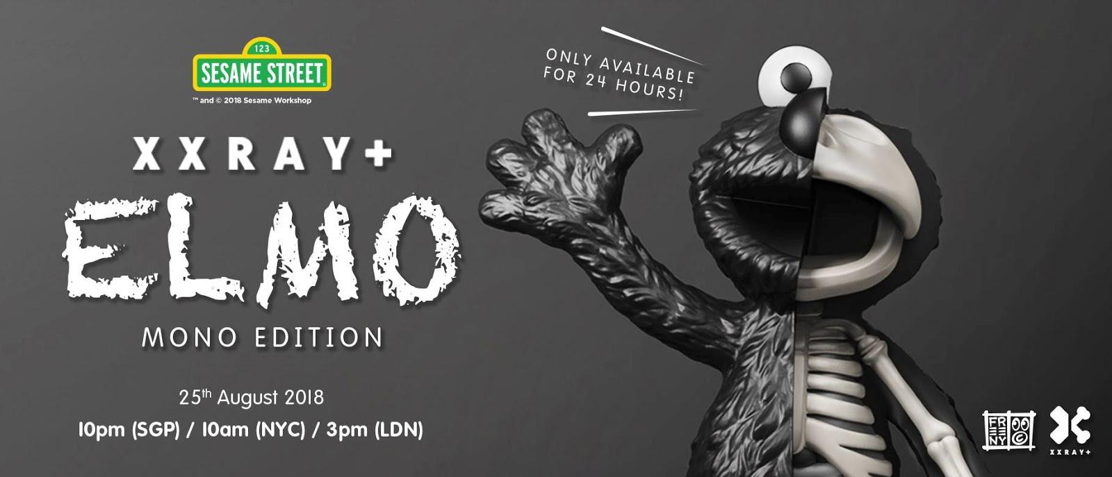 """Mighty Jaxx XXRAY 8.5/"""" Sesame Street Elmo Jason Freeny Pink"""
