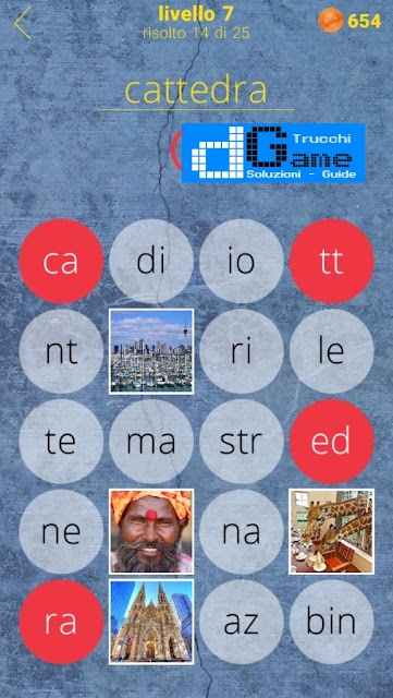 650 Parole soluzione livello 7 (1 - 25) | Parola e foto
