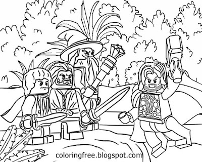 Legoland Figures Men Coloring Pages Lord Of The Rings Lego People Printable Images For Teenage Boys