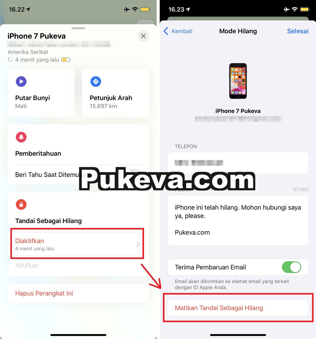 Cara Melacak iPhone yang Hilang dalam Keadaan Mati / Offline  PUKEVA