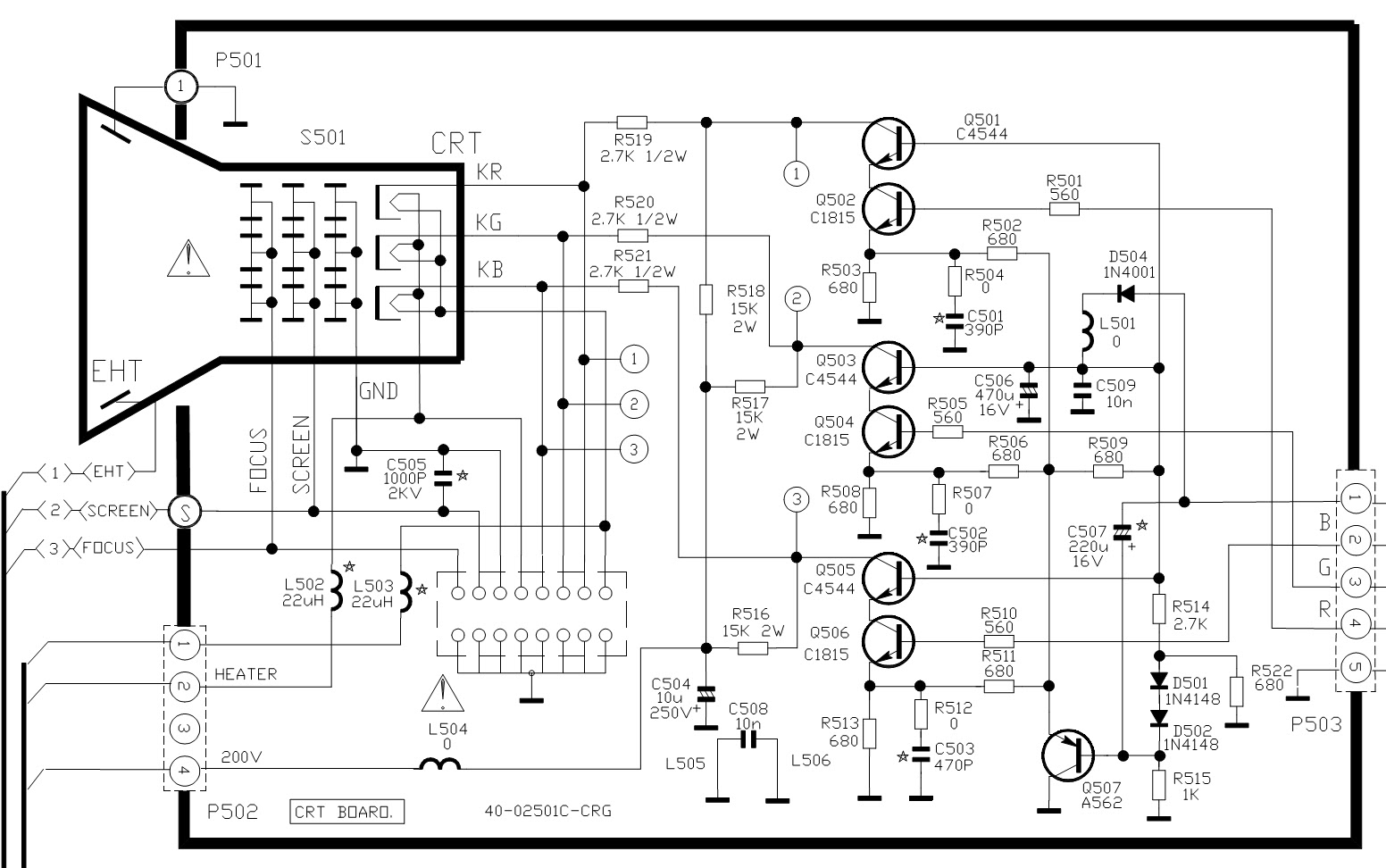 crt wiring diagram tcl mr-29tf 19rca - power supply schematic [smps] - crt ...