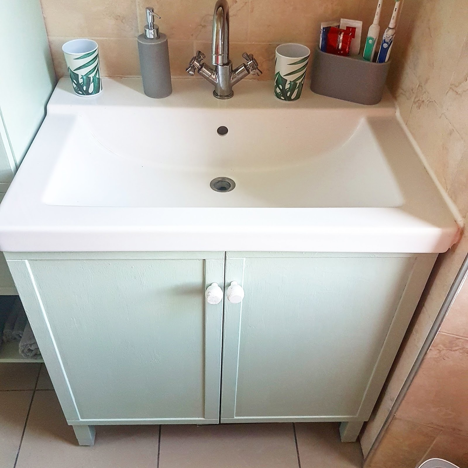 What Claire Did: Ikea Hacks... Repainting Bathroom Cabinets ...