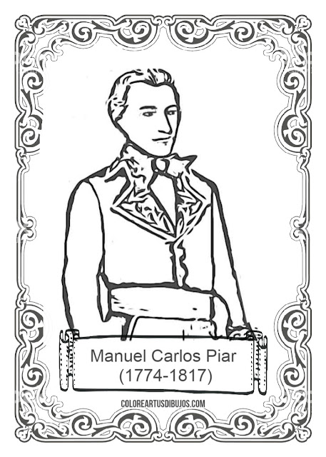 colorear de Manuel Carlos Piar