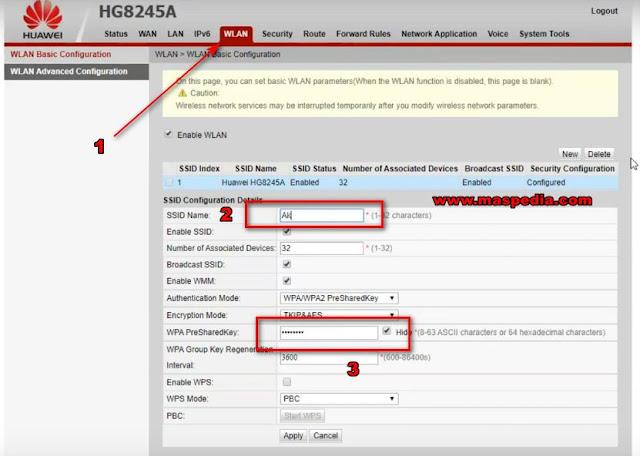 cara mengganti password wifi lewat hp