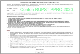 Contoh RUPS PPRO 2020