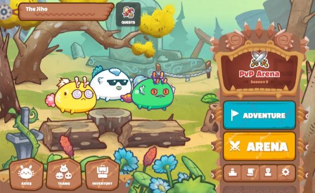 Screenshot Homepage Game Axie Infinity