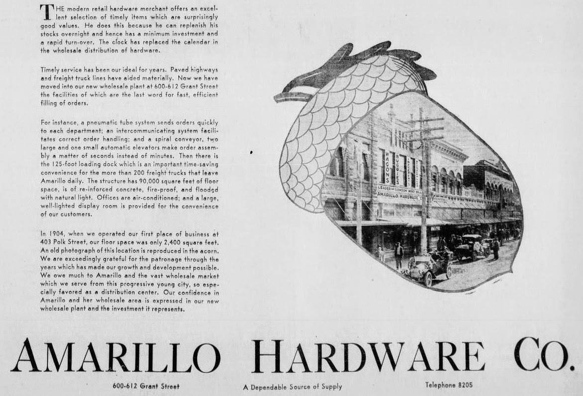History Of Amarillo Texas Amarillo Hardware Co At 600