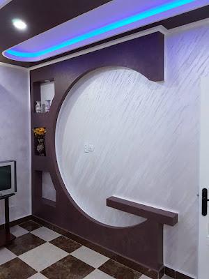 decoration mur salon platre marocaine