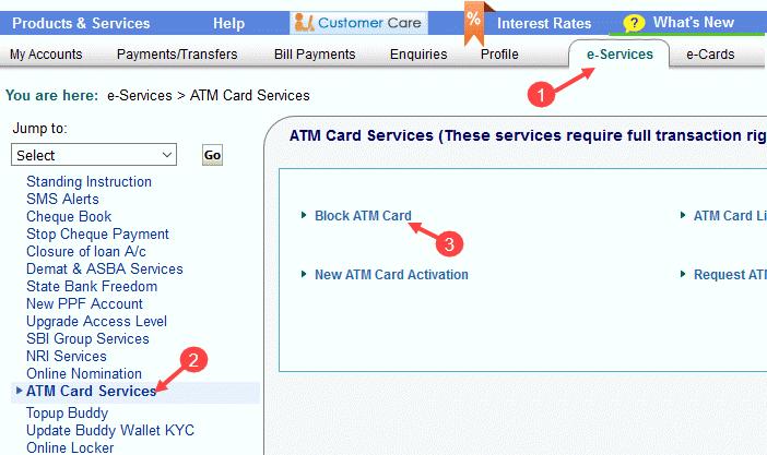 अपने SBI ATM कार्ड को ब्लॉक कैसे करें?