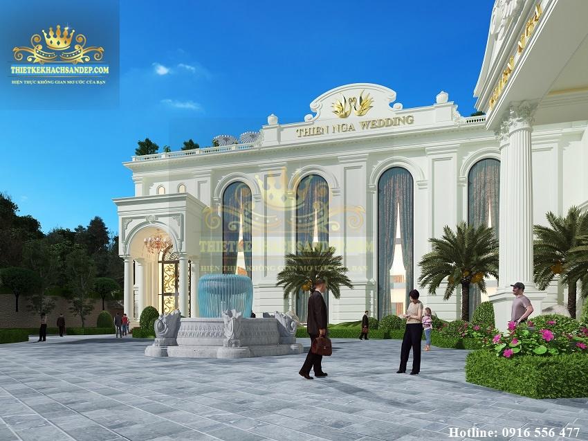 Hình ảnh: Thiên Nga WEDDING  được xây dựng với lối kiến trúc thông tầng độc đáo