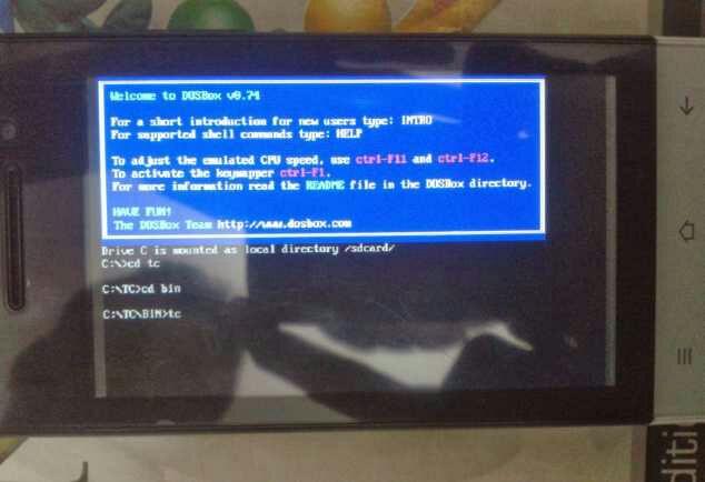 cheat & codes: run turbo c++ on android