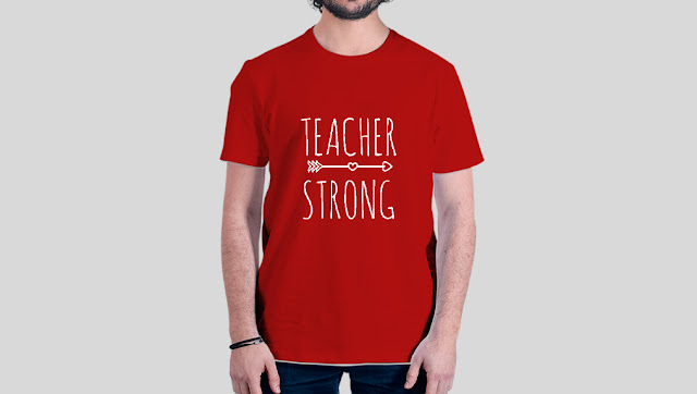 Valentines Day tees for Teachers quote Teacher Strong