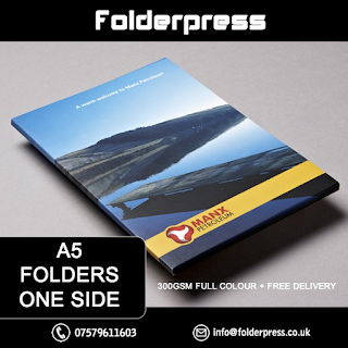 A5 Single Sided Folders printing