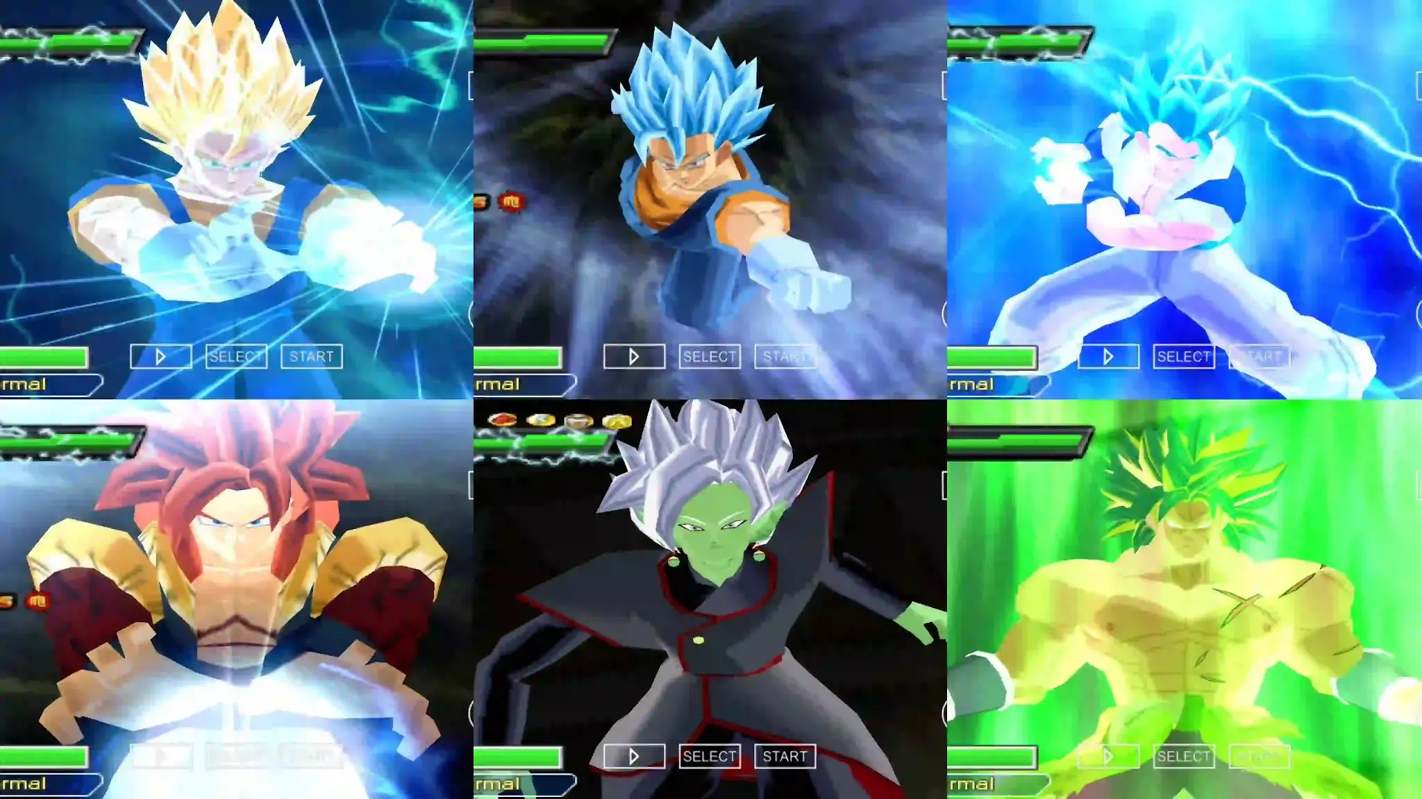 Dragon Ball Super All Fusions PSP Game