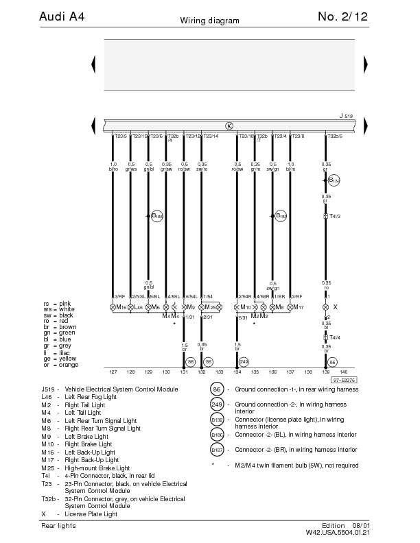audi a4 electrical diagram 2003 audi a4 wiring diagram the audi a4 complete wiring diagrams | schematic wiring ... #5