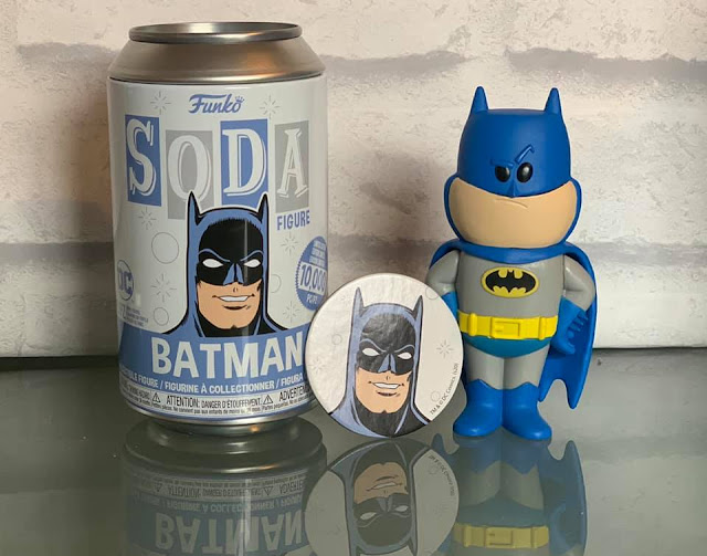 Batman Funko soda  can limited edition collectable figure with can and token