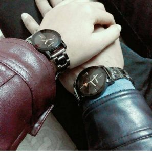 holding hand couple for boy and girl , BF, GF with same watch Whatsapp Profile Picture, DP, Images Download
