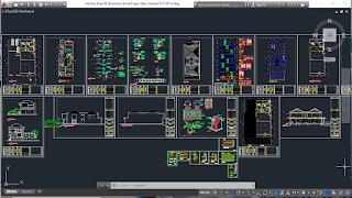 gambar kerja lengkap/ bestek rumah tinggal 2 lantai format