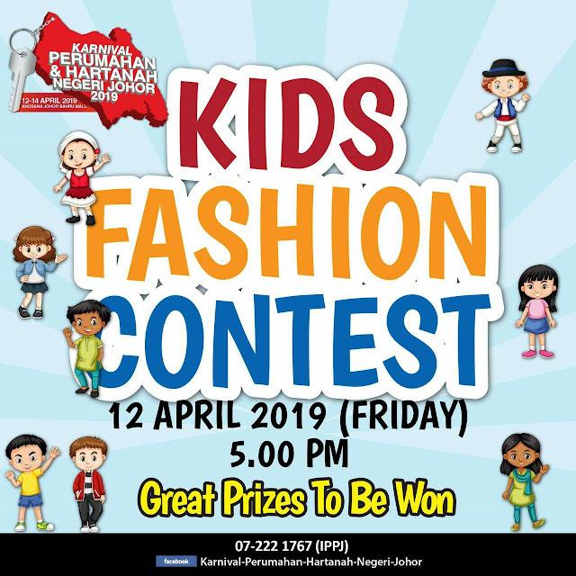 Kids Fashion Contest di Karnival Perumahan & Hartanah Negeri Johor