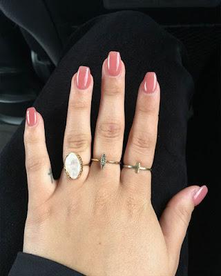 Wonderful short coffin nails design