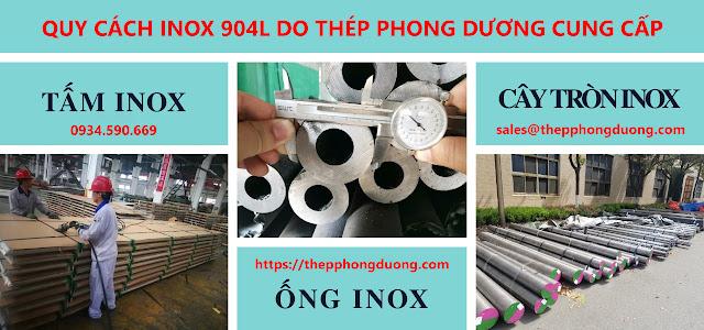 Quy cách inox 904l do Thép Phong Dương cung cấp