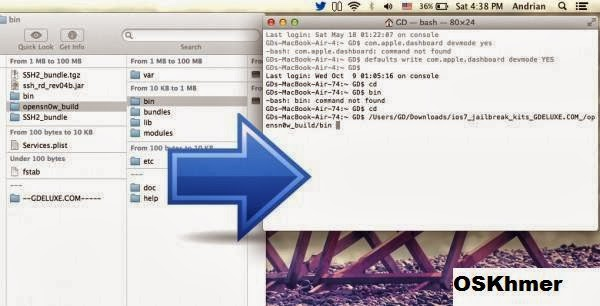 How to jailbreak iOS 7 0 2 on iPhone 4(By Opensn0w) ~ OS Khmer
