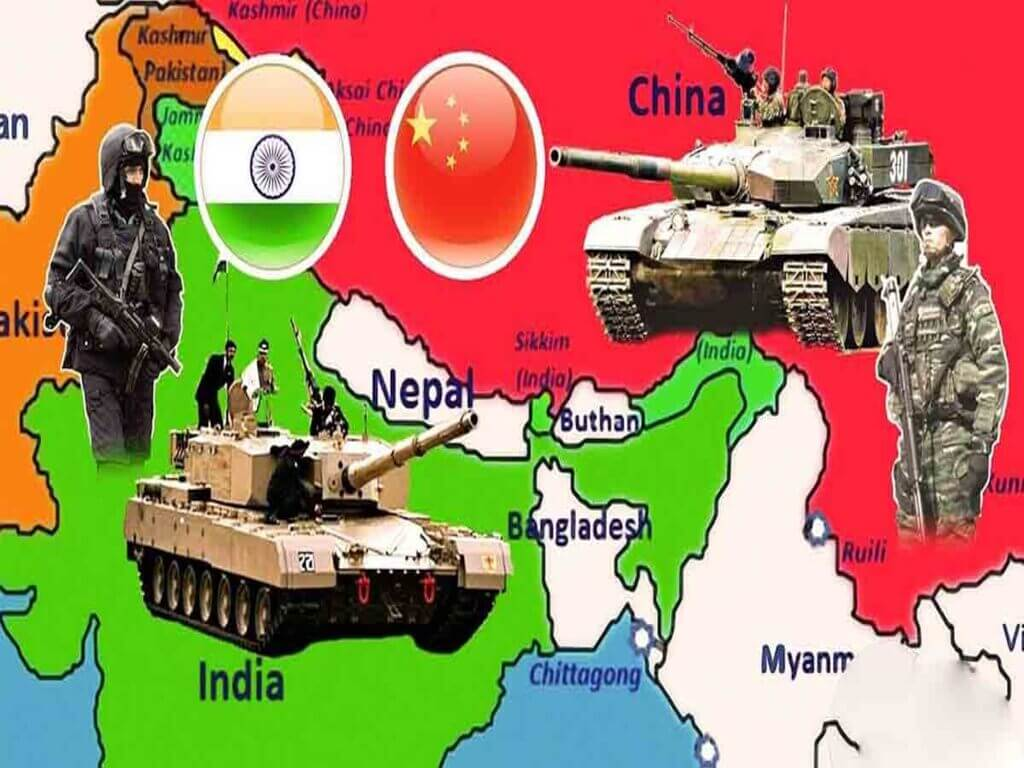 Tentera China Dan India Berperang