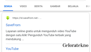 Cara Download Video Yotube tanpa Aplikasi di Android - geloratekno.com