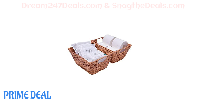 40% OFF Wicker Baskets with Handles Set of 2