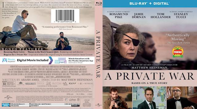 A Private War Bluray Cover