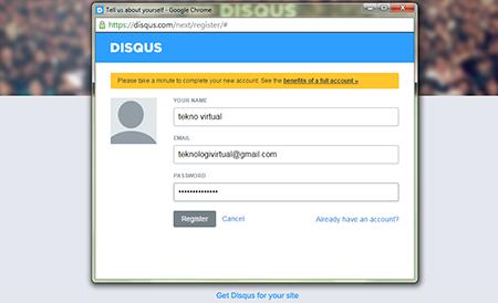 Cara daftar Disqus dan memasangya sebagai kotak komentar blogger blogspot 3