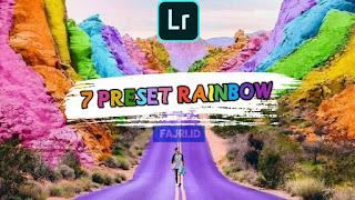 7 Preset Lightroom Rainbow Keren DNG & XMP