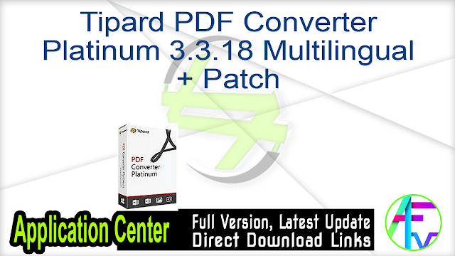 Tipard PDF Converter Platinum 3.3.18 Multilingual + Patch