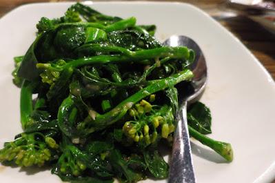 Char, kailan fermented bean curd sauce