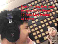 Syakir Daulay Bercanda dengan Adiba Khanza - 10 Foto Saat Syuting Di Studio