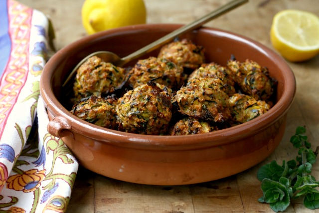 "Vegetarian Zucchini ""Meat"" Balls a Main Dish Meal or Vegetable Side"
