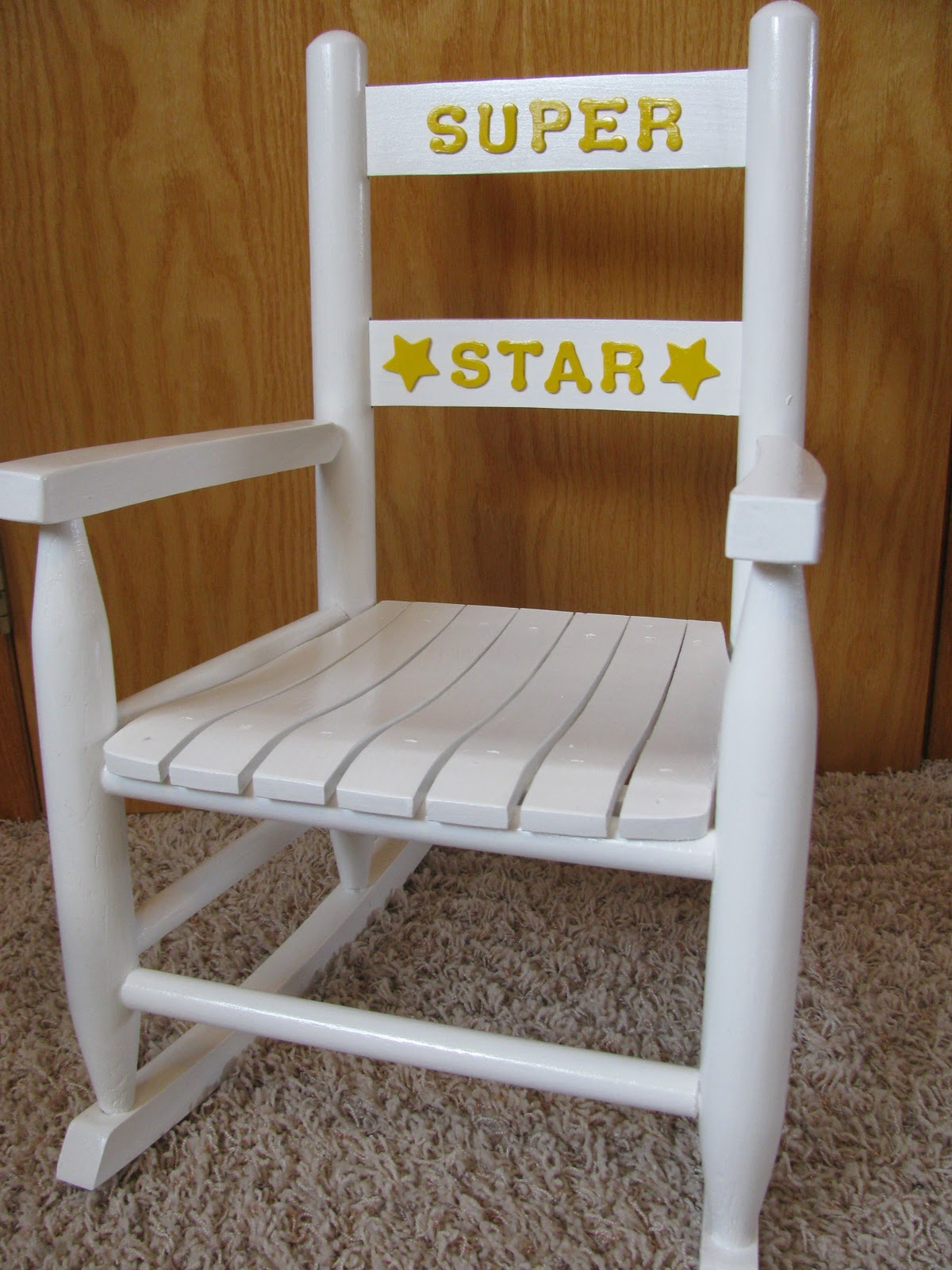 Monogrammed Toddler Chair Steel For Hospital Custom Personalized Rocking Chairs