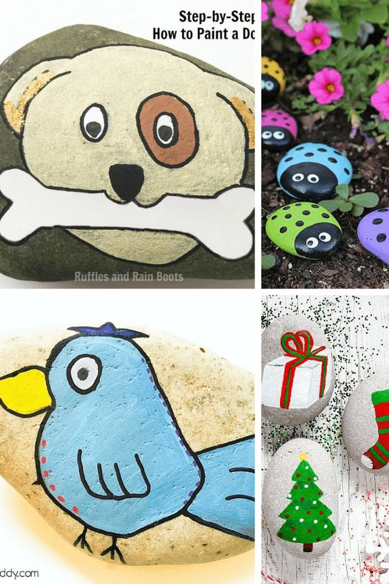 10+ Fun rock painting ideas for kids - they are also great as summer activities