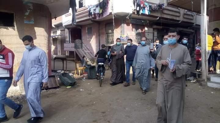 حملة توعية وتطهير بقرية شوني مركز طنطا